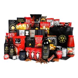 Ruim 30 euro kerstpakket goedgevuld met heerlijke drank en etenswaren