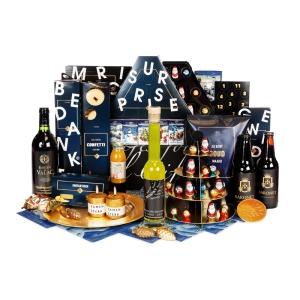 Luxe en alternatieve kerstpakketten met drank, snacks, chocola en meer