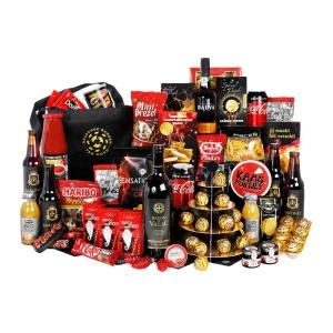 Uitgebreide eindejaarsgeschenk collectie vol met lekker eten en drank