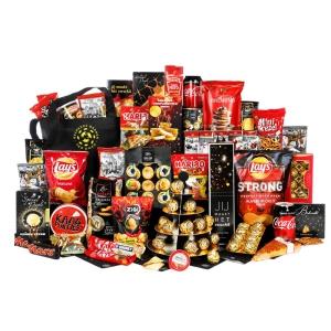 Unieke grote kerstpakketten goedgevuld met lekker eten en drinken