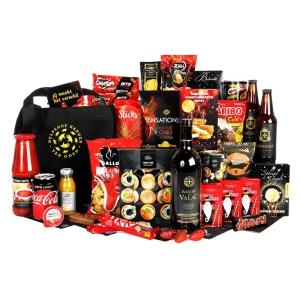 Kerstpakket bestellen vol met lekkere drank en etenswaren