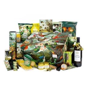 Uniek kerstpakket fair trade met duurzame drank en etenswaren