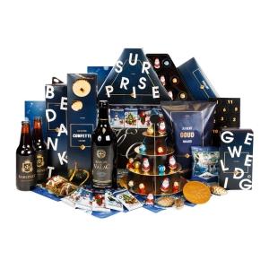 Bestel een kerstpakket dat vol zit met blauwe producten