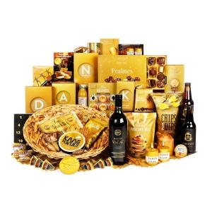 Bijzondere kerstpakketten met verschillende soorten manden