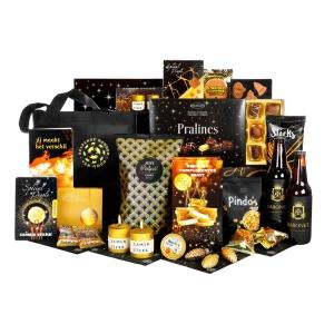 Luxe en mooie kerstpakketten gevuld met diverse drankjes en versnaperingen