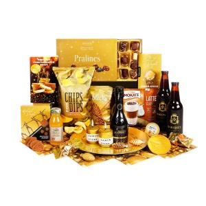 Unieke op reis kerstpakketten vol met drankjes en lekker eten voor onderweg