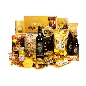 Unieke rugzak kerstpakketten met wijn en toastjes